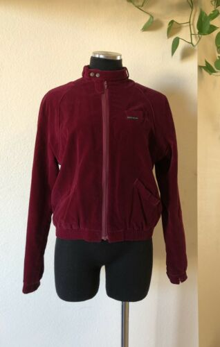 Vintage Nest Ce Pas Red Velour Bomber Members Only