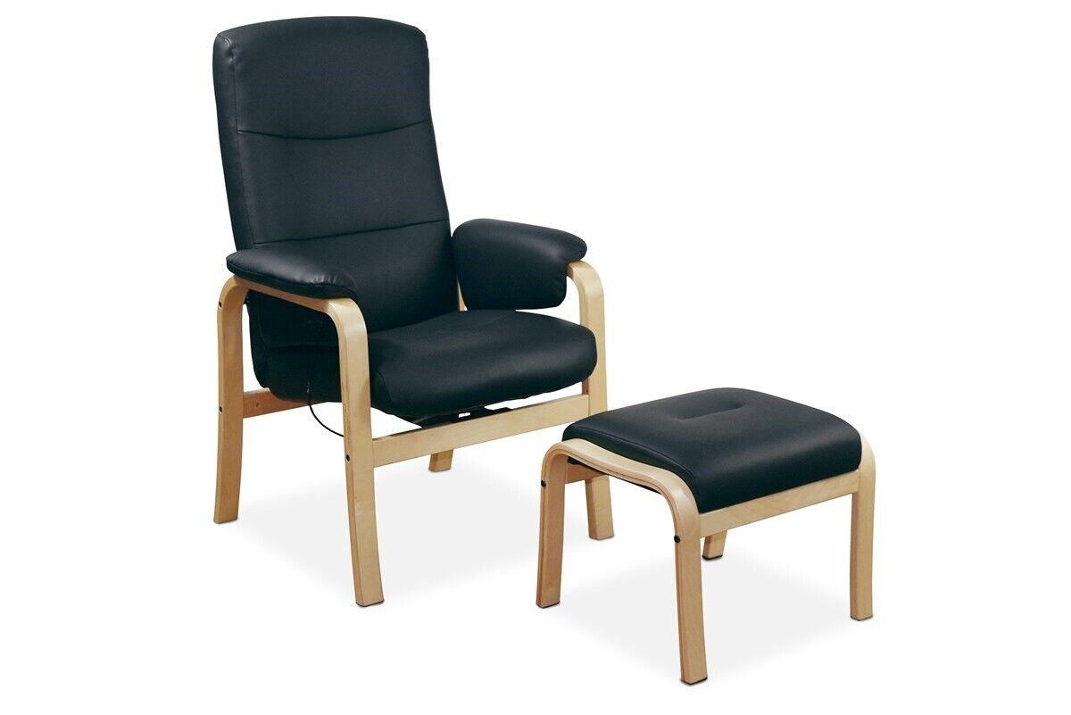 Hvilestol, læder, helnæs my home, lænetol med skammel a