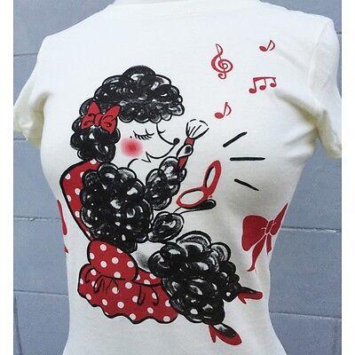 Miss Ladybug Makeup Poodle Polka Dot T-Shirt 50s Pinup Rockabilly Tee S - 2XL