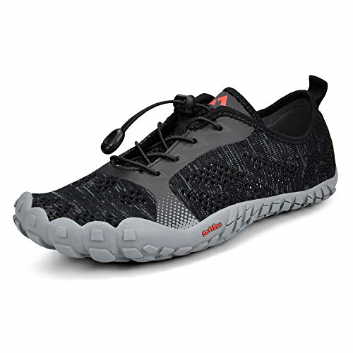 Troadlop Mens Wide Quick Dry Barefoot Hiking Water shoes Black 6.5 DM US