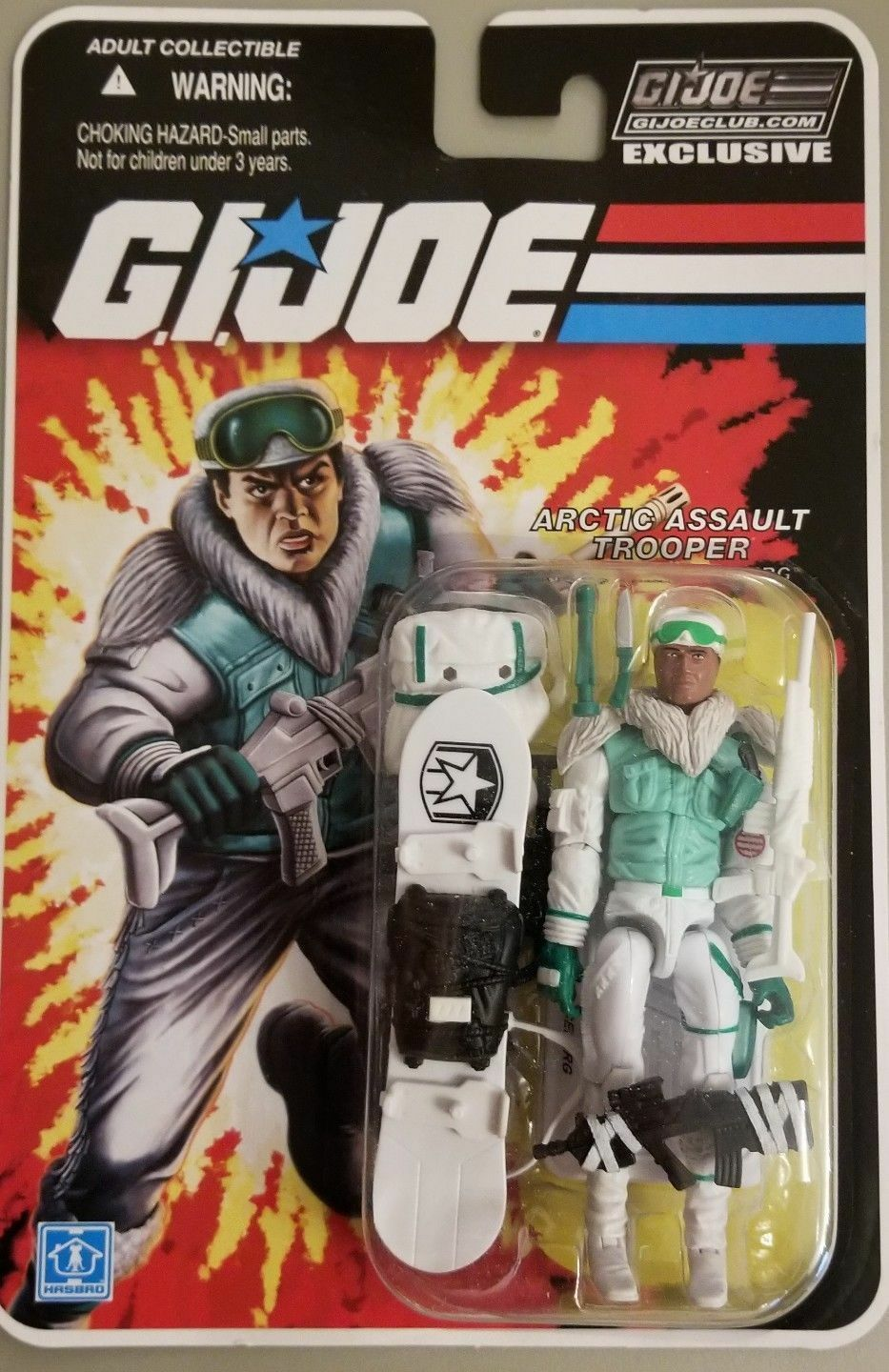 G.I.JOE EXKLUSIVE KOLLECTORS CLUB  ICEBERG, ARCTIC ASAULT TROOPER