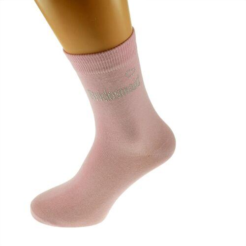 Pink Diamante Hen Socks Bridesmaid Design Ladies Socks UK 4-8 X6CH02