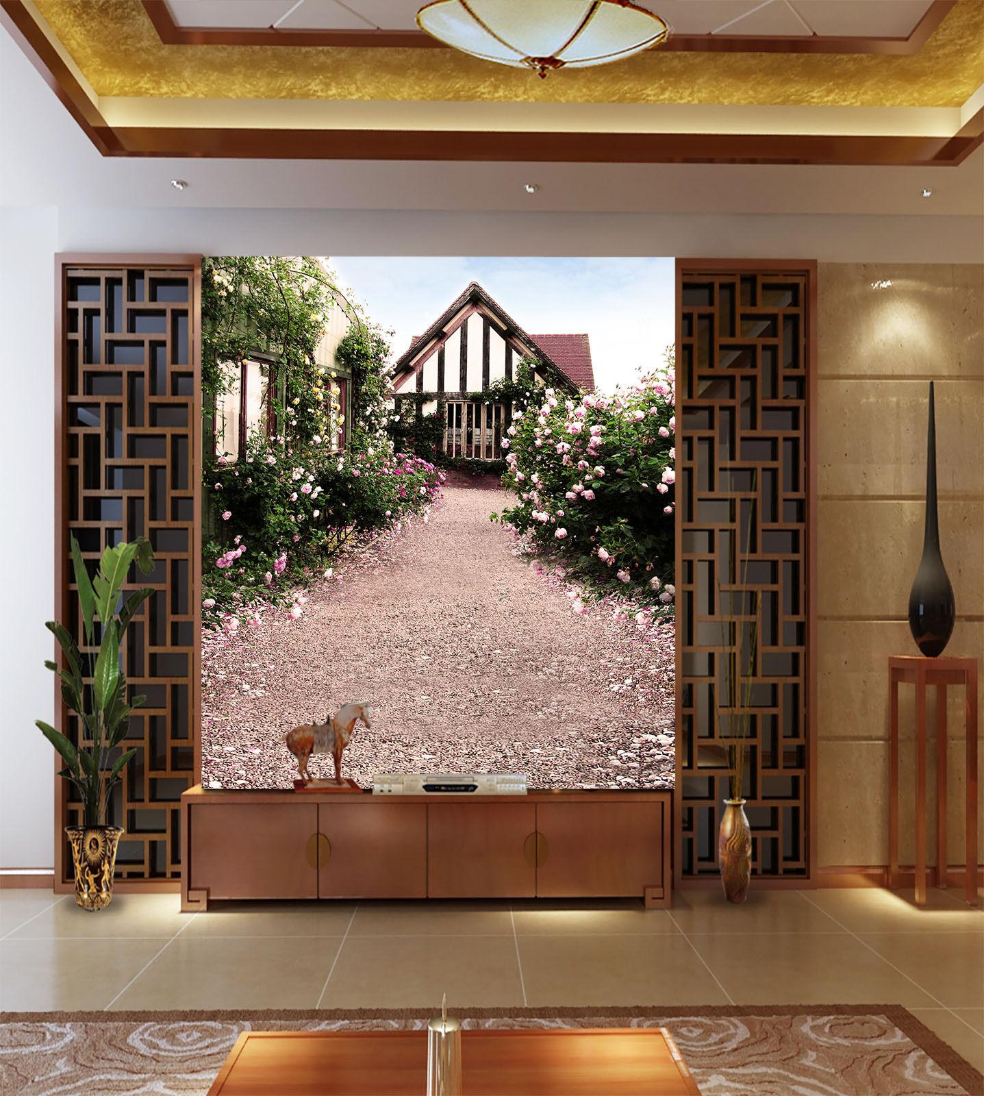 3D Sunlight Room Flowers Road2009 Wall Paper Wall Print Decal Wall AJ Wall Paper