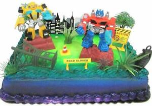 Fine Transformers 10 Piece Birthday Cake Topper Set Featuring Bumblebee Personalised Birthday Cards Paralily Jamesorg