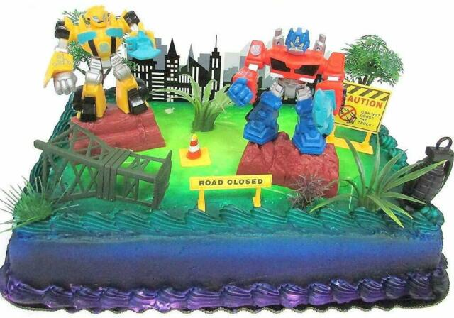 Super Transformers 10Pc Birthday Cake Topper Set Featuring Bumblebee Funny Birthday Cards Online Inifofree Goldxyz
