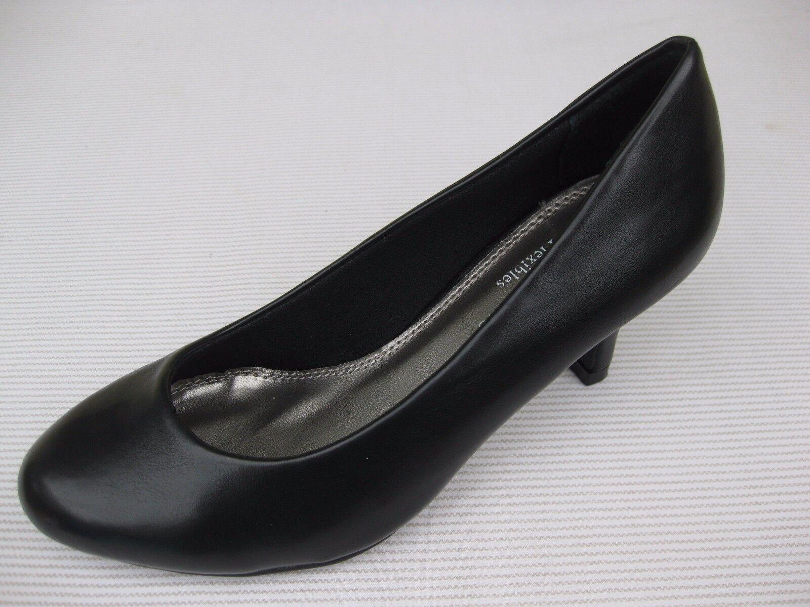 Pierre Dumas Flexibles Womens Shoes NEW Pump $44 Lola Black Smooth Pump NEW 9 M 06ffb2