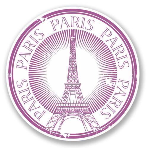 2 x Paris Eiffel Tower Vinyl Sticker Laptop Travel Luggage #4225