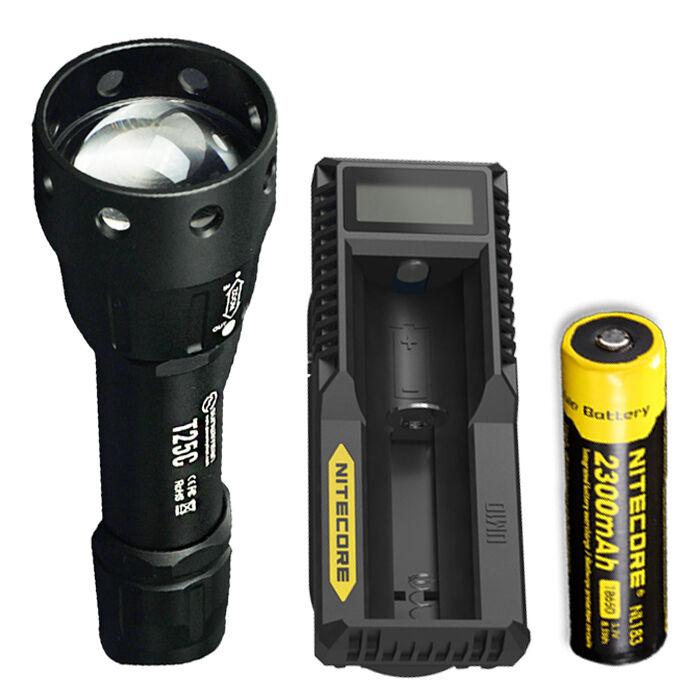 Sunwayman T25C CREE XM-L2 U3 LED Flashlight w  NL183  Battery & UM10 Charger  save 50%-75%off