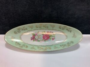 Arnart-5th-Ave-Hand-Painted-Oval-Porcelain-Relish-Celery-Tray-Dish