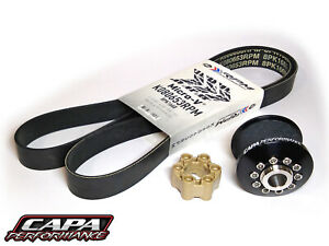 Supercharger-Pulley-Kit-ZPE-GripTec-LSA-2-45-034-Pulley-w-RPM-Belt-and-Coupler