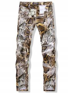 Mens-Fashion-Slim-Fit-Jeans-Snake-Nightclub-Printed-Skinny-Pattern-Pants-Size