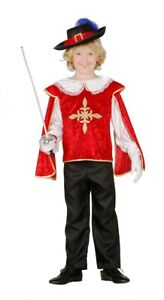 Carnevale Halloween Vestito Moschettiere Musketeer Bambino