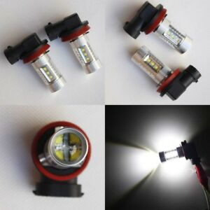 H11-Super-Bright-6000K-CREE-LED-Fog-Light-Bulbs-Warranty-Xenon-HID-White