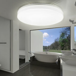 Details zu LED DECKENLAMPE BADEZIMMER DECKENLEUCHTE KELLERLAMPE  AUSSEN-LAMPE KÜCHEN LICHT
