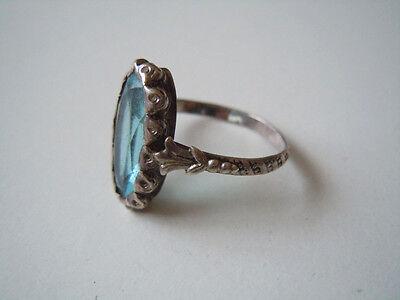 Jewelry & Watches Fine Jewelry Independent Antiker 925 Silber Ring Mit Blauem Glas Stein?schöne Verzierungen Gr 55/ 2,5 G