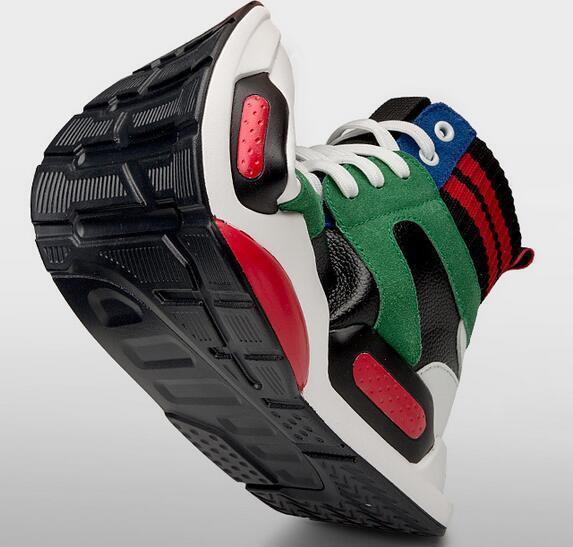Zapatillas para hombre tobillo alto zapatos atléticos cómodo correr deportes entrenadores de moda nuevo