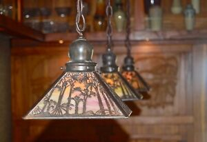 mission arts and crafts Handel Pine tree sconce 1 of 8 available lamp