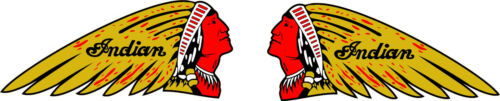 Indian Motor Cycle  PAIR  Decal Asst. Sizes  FREE SHIPPING