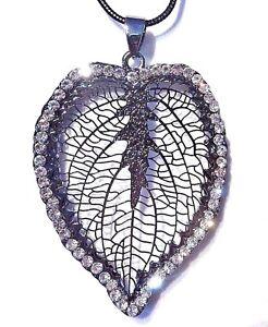 Real Dipped Skeleton Leaf Pendant Filigree 4 Colours Leaf Jewellery UK Seller