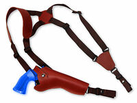Barsony Burgundy Leather Vertical Shoulder Holster Rossi, Navy 6 Revolvers