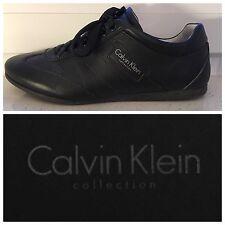 Calvin Klein Collection Herren Sneakers Sport 2568 ECHTES LEDER Schwarz Gr. 40