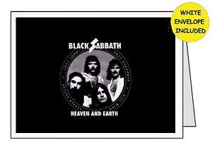 BLACK SABBATH Personalised Handmade Card .......... All Occasions Birthday Open