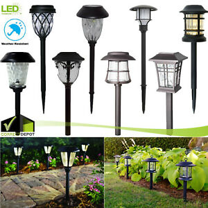 Details About Solar Outdoor Integrated Led Landscape Path Lights Lens Patio Walkways Garden