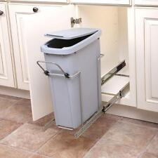 Kitchen In Cabinet Under Sink Pull Slide Out Trash Can Waste Container With  Lid
