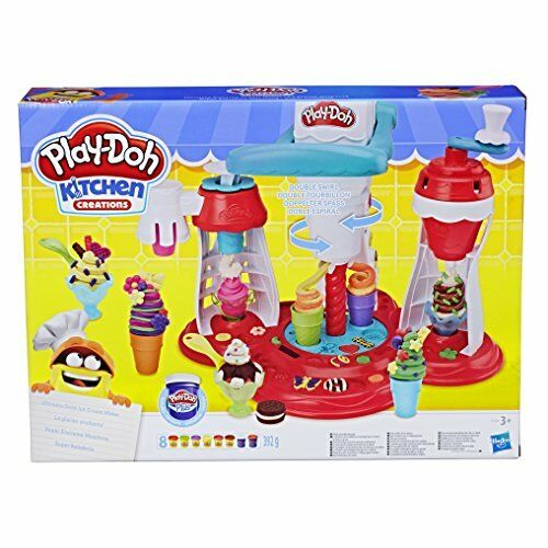 Play Doh Kitchen Creations Ultimate Swirl Ice Cream Maker Play Food Set with 8