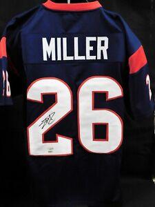 Lamar Miller Houston Texans Signed Custom Jersey TRISTAR and Leaf ...