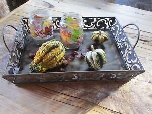Holztablett Dekoration Tablett Tischdeko Shabby Dekoration Tisch