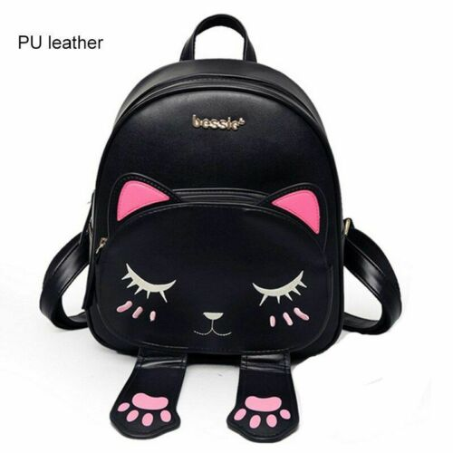 Details about  /Cute Cat Women Fashion Backpack Casual Ladies Style Rucksack School Small Bag