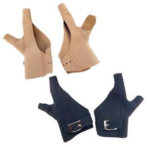 Kuh Leder Fingerschutz Schießhandschuh für Bogenschießen Sport Braun