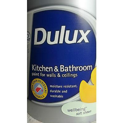 Dulux Kitchen & Bathroom Paint -Soft Sheen- Wellbeing -GREEN-
