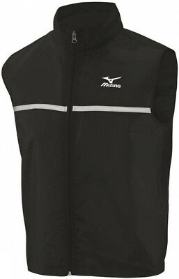 WohltäTig Mizuno Mens Running Gilet Lightweight Reflective Windproof Sports Vest Cycle Run