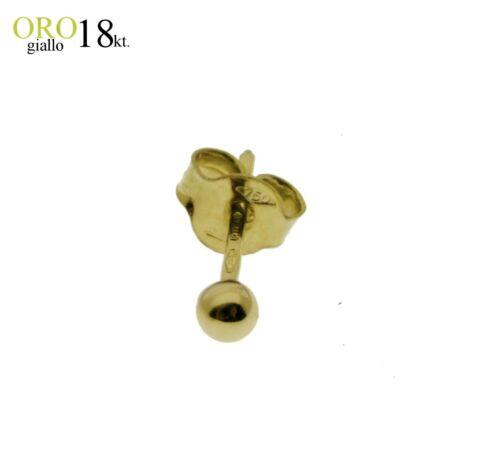 uomo donna GOLD 18kt Orecchino pallina 3mm ORO bianco ORO giallo 750/% 18kt