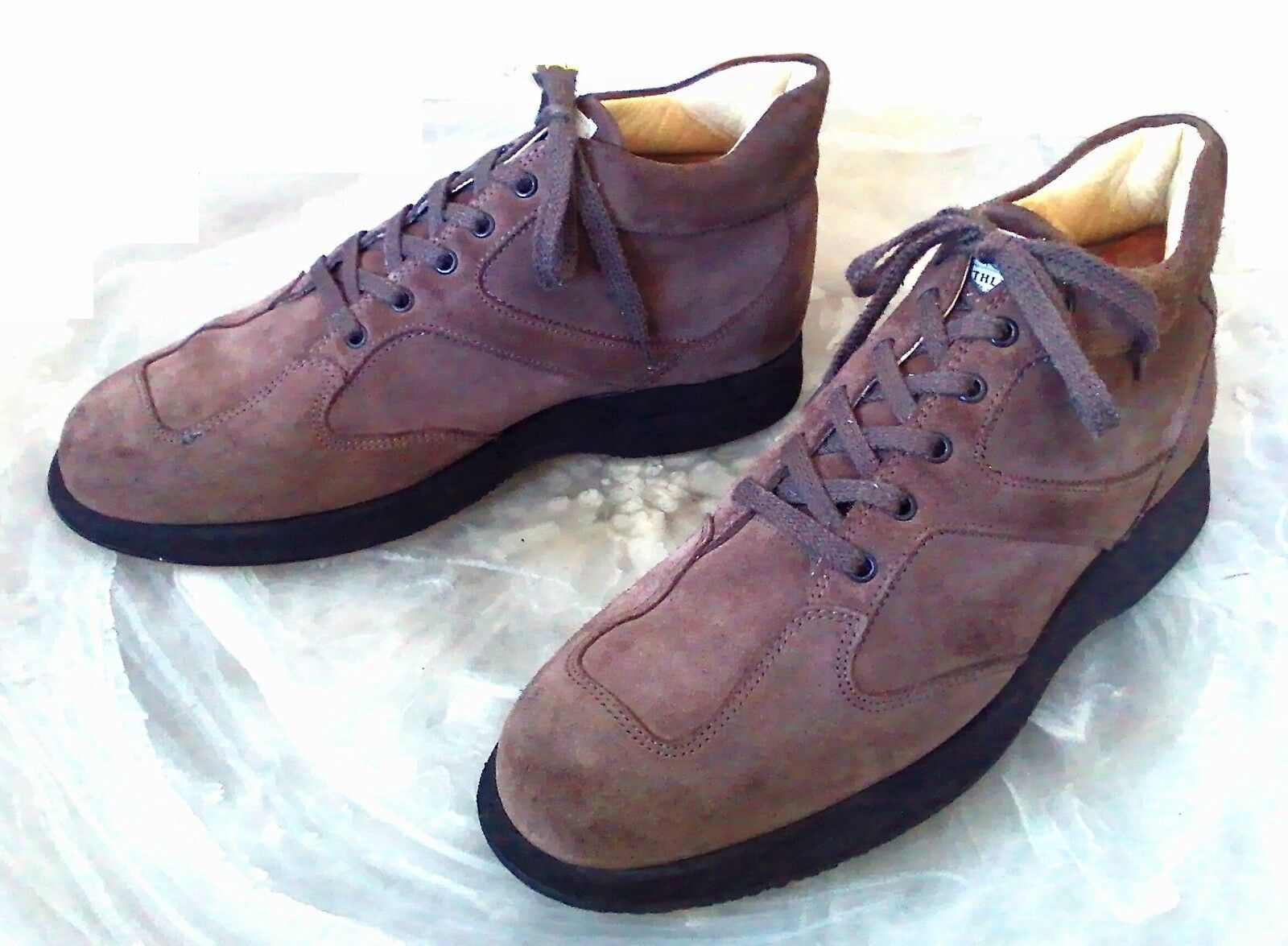HOGAN Men's 11 M Brown Suede Lace High Top Athletic Fashion Sneakers