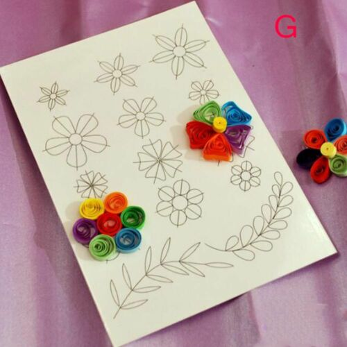Flower Template Clipbook Paper Crafts DIY Tools Quilling Rolling Kit Mould