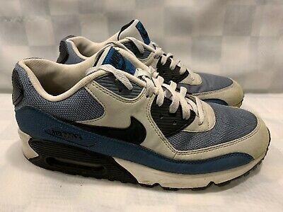 Nike Air Max 90 Essential Grey Mist Men's Shoes Size 10.5 Blue Gray  537384-042 | eBay