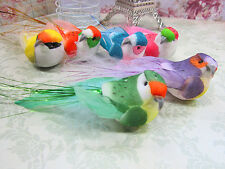 "12 Feather Foam Bird 4.5"" Craft/Floral Home Decor/Design/Flower/Garden H132-B"