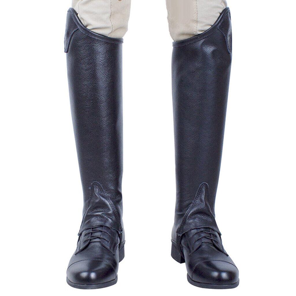 1 COPPIA ZIPPER ADULTO Ghette Equitazione GHETTE gamba alla caviglia Leggings Guard