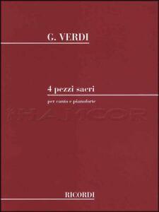 Constructif Giuseppe Verdi 4 Reprenait Sacri Pour Voix Et Piano Sheet Music Livre Sacré Pieces-afficher Le Titre D'origine Sans Retour