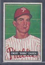 1951 Bowman #149 Emory Bubba Church Pitcher Philadelphia Phillies EX-MT Plus