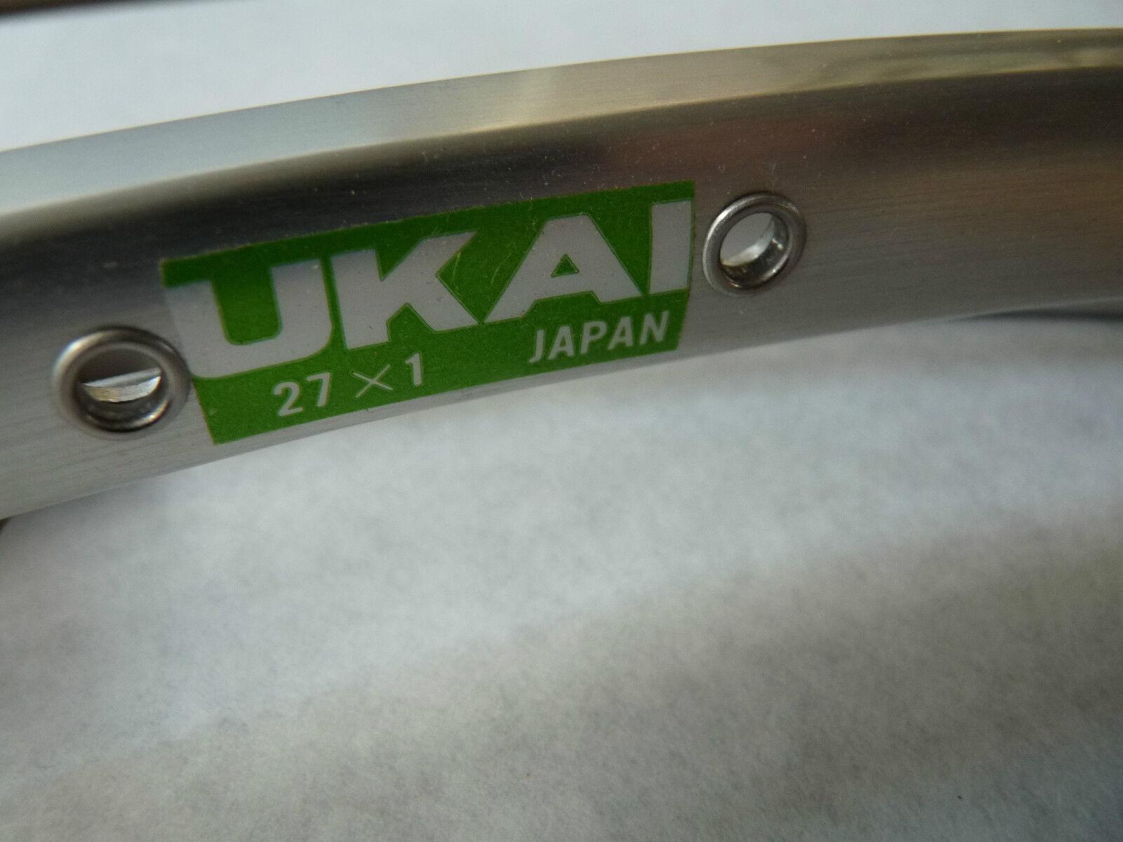 Llanta Ukai 27  X 1 48 agujero Remachador solo  tándem  20Mm ancho  Modelo 21A Nuevo Viejo Stock