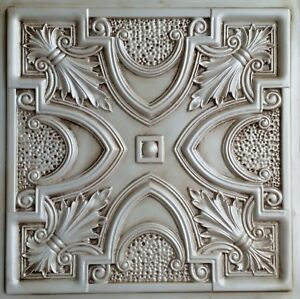 Image Is Loading Tin Look Ceiling Tile Td11 Antique White Glue