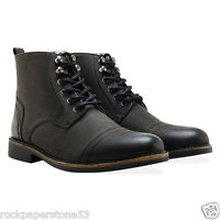 Redfoot Mens Leather Fur Lined Ankle Work/walking Boots Black Rrp £150 Uk 7
