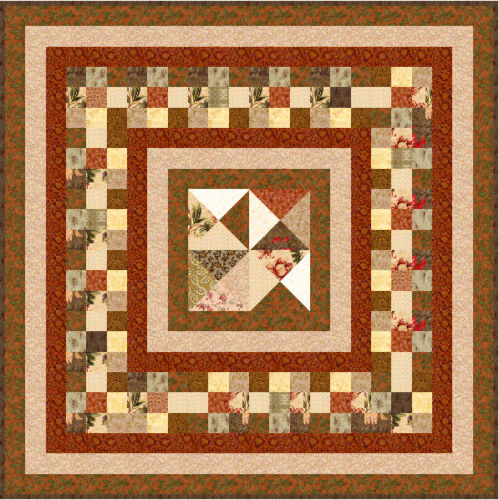"CHOCOLATE BOX 49"" x 49"" Precut Quilt Kit by QuiltAddicts Lap size"