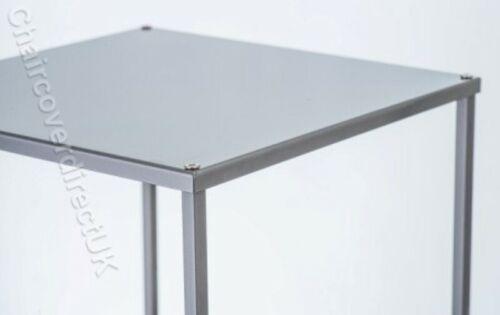 60,80,100cm Gold /& Silber Rechteckig Metall Blumen Ständer Podest Sockel QT04400
