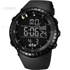 LED Men Sports Wrist Watch Digital Waterproof Stainless Steel Date Army Watches
