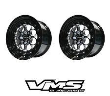 2 15x8 Vms Racing Revolver Black Import Drag Wheels 4x1004x114 Et20 Pair